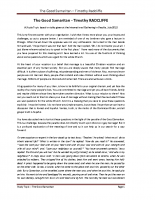 2012 The Good Samaritan Study Topic – Timothy Radcliffe