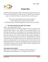 2013-2014 Prayer Box